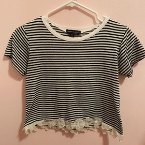 Stripped Flower Top